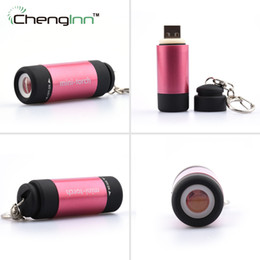 Outdoor Waterproof Mini 0.5W USB LED Torch Rechargeable 25 lumens Keychain Flashlight Light ABS Lamp Pocket Mini-Torch