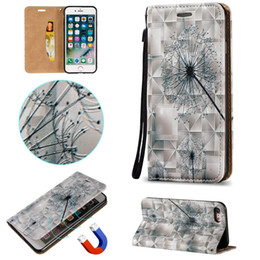 Dandelion Magnetic Fold Stand Leather Wallet Phone Cases for Apple iPhone 7 7 Plus 6 6s Plus 5s BB0278A02