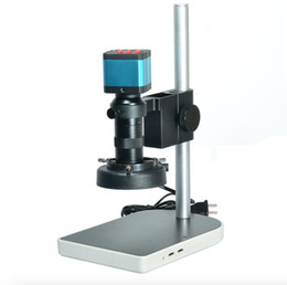 14MP CMOS HDMI Microscope caméra pour industrie Lab PCB USB sortie TF carte enregistreur vidéo + C-mount Lens + 56 LED Light + Stand à partir de conduit vidéo d'éclairage fournisseurs