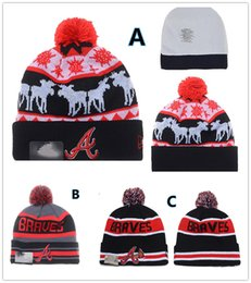 Wholesale NEW HOT Sport KNIT MLB Atlanta Braves Baseball Club Beanies Team Hat Winter Caps Popular Beanie Fix Cheap Gift Present Fashion