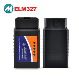 Wholesale Elm327 Bluetooth OBD II Elm OBD2 Scanner Code Reader Car Detector Traffic Computer Fuel Consumption Meter