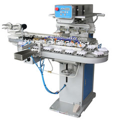 Wholesale 4 Colors Ink Cup Pad Printing Machine with Auto Clean Ruber Pad System color rotary printing machine Semi automatic rotary printing machine