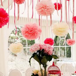 Wholesale Handmade CM Tissue Paper Pom Poms Paper Flower Ball Pompom For Home Garden Wedding Birthday Wedding Car Decoration
