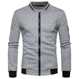 Free Shipping 2017 New Winter Men's Diamond Lattice Collision Color Zipper Collar Sweater Coat