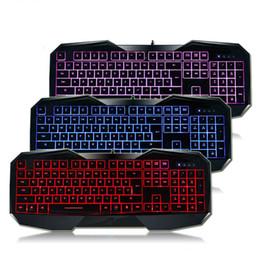 Teclado para juegos de luz de fondo azul en venta-AULA SI-859 retroiluminada teclado de juegos con luz de fondo ajustable Rojo púrpura azul USB con cable iluminado teclado de computadora para juego