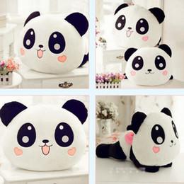 Acheter en ligne Oreillers panda en peluche-Grossiste- Panda Peluche Bébé Poupée Peluche Poupée Peluche Panda Pillow Qualité Bolster Cadeau Poupées Poupées Cartoon 20CM