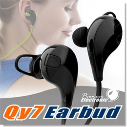 Wholesale Sport Bluetooth Headphone QCY QY7 Wireless Stereo Headset Mini Bluetooth Earphone with Mic Handsfree for iPhone Plus with Retail Box