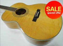 2017 acoustique de érable flammé Grossiste - érable flamme de guitare acoustique jumbo avec pick-up peu coûteux acoustique de érable flammé