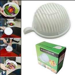 Wholesale 60 Second Salad Cutter Bowl Easy Salad Fruit Vegetable Washer And Cutter Salad Bowl Cutter Strainer Retail box KKA1324