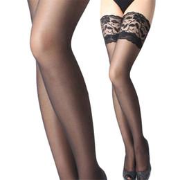 Promotion jambes sexy bas Vente en gros- Modern New Women Sheer Cuisse Basse Haute Soie Sexy Sous-vêtements Réparation Leg Show Mince Dentelle Soie Bas Mar02p33