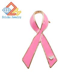 Acheter en ligne Ruban rose sein-Don de la propagande contre le SIDA Broches ruban rose Broches ruban rouge Pour prévenir le cancer du sein