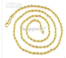 Thin Men 18k yellow gold filled necklace chain
