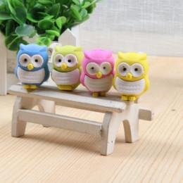 Enfants mignons effaceurs en Ligne-Vente en gros - 4pcs / set Cute 3D gomme en caoutchouc gomme en caoutchouc création Kawaii papeterie fournitures scolaires cadeau pour enfants Livraison gratuite