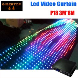 Wholesale P18 To Choose M M Fire proof Led Video curtain Kinds Program Led Graphic curtain Stage Lighting Computer DMX Control
