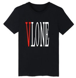 Wholesale 2017 ebay burst Europe and the United States high street VLONE printing round neck short sleeve men s T shirt couple models