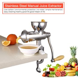 Wholesale Factory Direct Sale CE Approved ECO Friendly Household Stainless Steel Manual Fruits Vegetables Juicer Blend with Gift Used in Kitchen