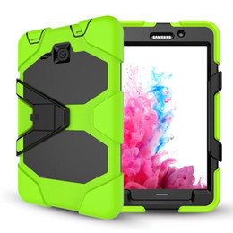 Military Heavy Duty ShockProof Rugged Impact Hybrid Tough Armor Case FOR SAMSUNG Galaxy Tab P5200 T550 T560 T580 P580 T810 T820 20pcs lot