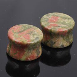 mix 5-18mm size 48pcs lot nature Stone Ear Gauge Plugs Ear Stretcher flesh Tunnels Expander pierce
