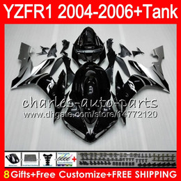 8Gift Silver black 23Color Body For YAMAHA YZF R 1 YZF 1000 YZFR1 04 05 06 58HM15 YZF-R1000 YZF-R1 YZF1000 YZF R1 2004 2005 2006 Fairing kit
