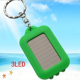 Creative Plastic Solar Instant Key Keychain Flashlight Portable Outdoor Solar Charging Flashlight Camping Light Key Chain Wholesale