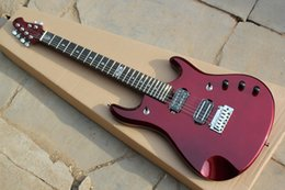 Wholesale Wine Red Factory custom electric guitar with frets Chrome Hardware HH pickups can be customized
