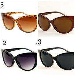 Espejo de cristal clásico en Línea-Gafas de sol de las mujeres gato negro gafas retro clásico diseñador vintage moda sombras espejo lentes gafas