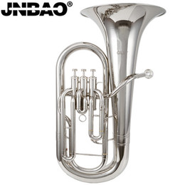 Wholesale Baritone professional Silver Plated Bb tone Brass Cornet trompete Trumpeter Bugle Brass Musical Instruments love musical