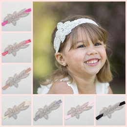 12 colors Rhinestone flower girl headband, rustic flower crystal, baby girls headband, fancy girls headband, bridal