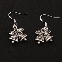 Christmas Jingle Bell Dots Bells Charm Earrings 925 Silver Fish Ear Hook 30pairs lot Tibetan Silver Chandelier E793 16.7x31.7mm