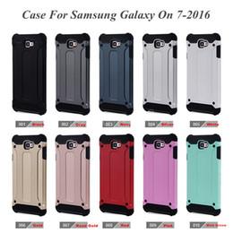 Protection téléphone cellulaire à vendre-Pour Samsung J5 prime cas Samsung Galaxy j7 prime acier blindage TPU PC Cell Phone couvertures de protection