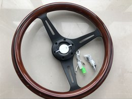 universal high quality 350mm  14inch 35cm Wooden Phoebe steering wheel racing car steering wheel three racing Phoebe