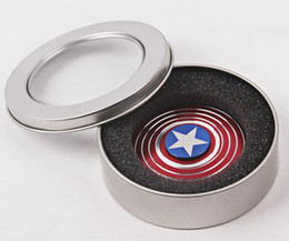 Fidget Spinner American Captain Fast Bearing Spider Finger Hand Spinner gyro EDC ADHD Rotation Anti Stress Aluminum alloy Man