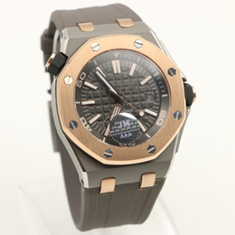Wholesale AAA New Fashion Luxury mens watches A P Royal Oak Offshore limited automatic movement rose gold steel Rubber strap Mens Sport Wrist Watches
