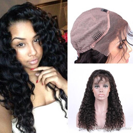 High Quality 130% Density Lace Front Human Hair Wigs For Black Women Deep Wave Brazilian Remy Hair Natural Black With Baby Hair
