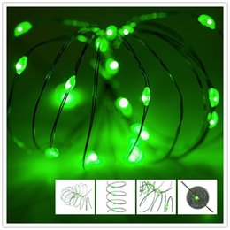 AA Battery Operated Led String Mini LED Copper Wire String Fairy Light Christmas Xmas Home Party coffee bar Decoration Green Light 3M 30LEDs