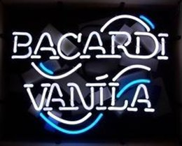 Wholesale Bacardi Vanila Logo Neon Sign Handmade Custom Real Glass Tube Store Beer Bar KTV Club Party Motel Advertising Display Neon Signs quot X14 quot