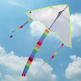 Wholesale DIY Kite Painting without Handle Line Outdoor Toys Flying Papalote Toy Kite Nylon Ripstop Fabric Kite Cheap