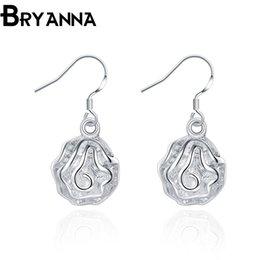 Bryanna 925 sterling silver dangling earrings for women Fashion Jewelry Wholesale Wedding Gifts Rose long drop earrings E2066