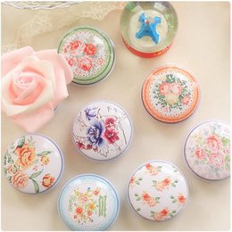 Mini Vintage Storage Tin Box Protable Case Coin Bag Jewelry Box Lovely Print Creative Gift use 4.3*2.5CM Mix Pack 48pcs lot