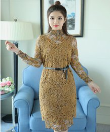 Wholesale Women Floral hollow out of lace chiffon dress skirt with shoulder straps two piece outfit