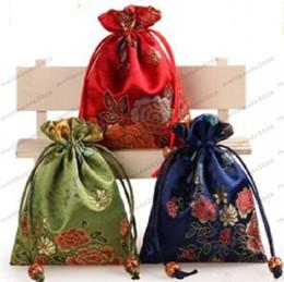 Wholesale El nuevo bolso del estilo chino de los multicolors cm de la manera cabido para los bolsos de la joyería del paquete del regalo del pendiente de la pulsera del collar libera el envío MYY