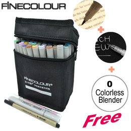 Wholesale FINECOLOUR Double Headed Sketch Marker Pen Architecture Alcohol Based Art Copic Markers Colors set Manga Drawing
