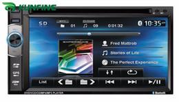 Promotion tuner audio vidéo Ecran tactile universel de 6,2 pouces Lecteur DVD de voiture audio Radio stéréo FM USB / SD Bluetooth / TV avec commande de volant sans GPS KF-V3003