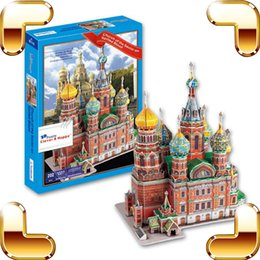 Wholesale New DIY Gift Church Of The Savior On Spilled Blood The Resurrection Of Jesus Chris D Puzzle Structure Model Education Toy