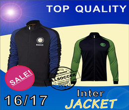 Wholesale 16 Inter two kinds jacket Mens top thailand quality soccer training jerseys soccer sweater Training clothes Soccer Jerseys