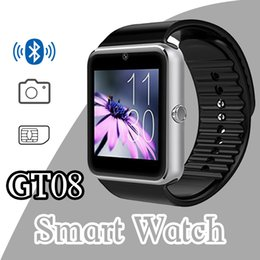 Wholesale 2016 GT08 smart watch smartwatch with SIM Card Slot DZ09 A1 U8 and NFC Health Watchs for Android Samsung and IOS Apple iphone phone watches