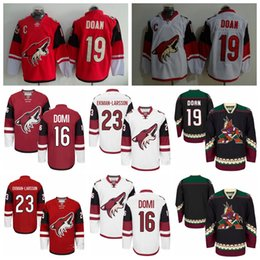 Wholesale Cheap Arizona Coyotes Jerseys Shane Doan Jersey Oliver Ekman Larsson Max Domi Throwback Classic CCM Black Ice Hockey Jerseys S XXXL
