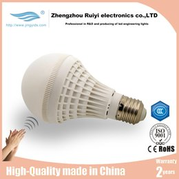 Wholesale CE Manufacturer E27 Led bulbs w w SMD5050 high bright indoor Pure White Bulb Lamp Auto Switch Stairs Night Light