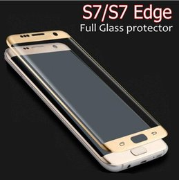 3D Curve Tempered Glass For Samsung Galaxy S6 S7 Edge Full Screen Coverage Guard Film Protector HD 9H Tempered Glass for Iphone 6S 7 Plus