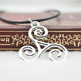 Wholesale Teen Wolf necklace Triskele Triskelion Allison Argent silver color pendant jewelry for men and women